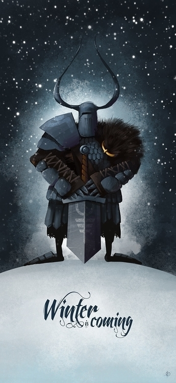 Winter coming - illustration, character - attianart | ello