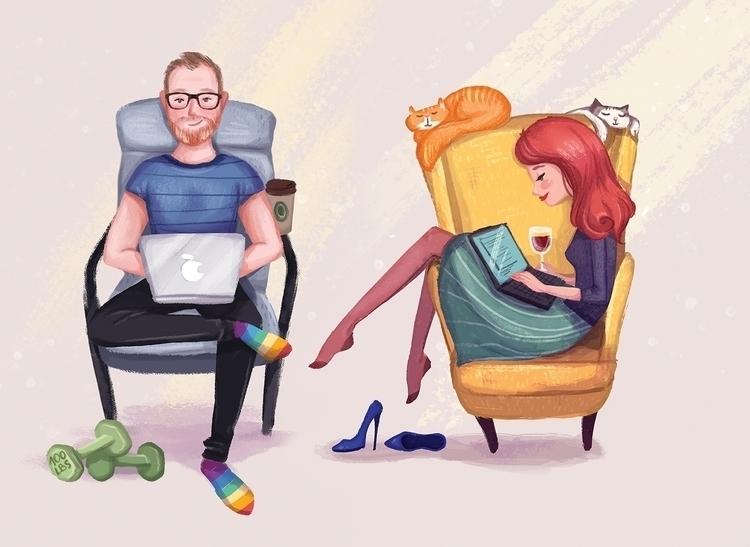 Couple - couple, woman, man, lovers - danielasosa | ello
