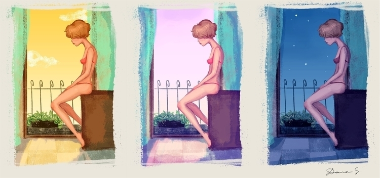 Light - light, girl, evening, morning - danielasosa | ello