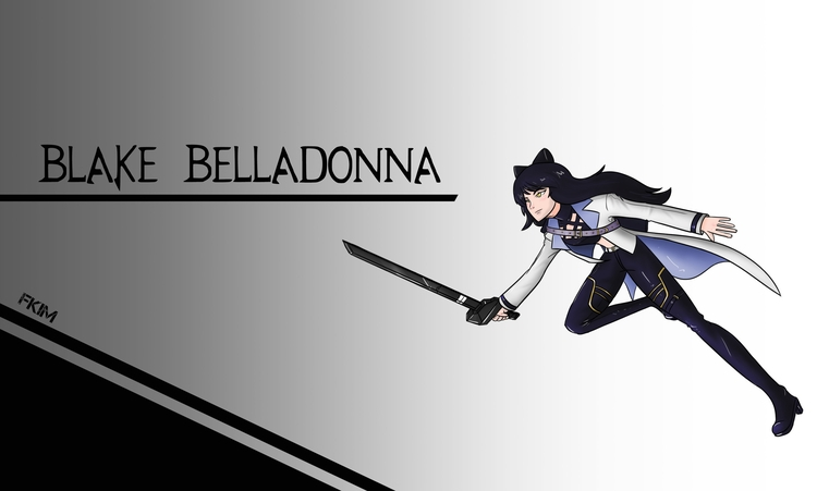 Blake Belladonna timeskip - illustration - fkim90 | ello