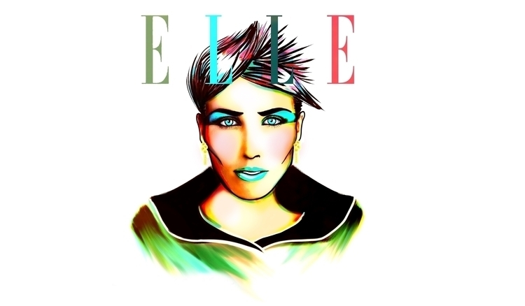elle - fashion, magazine, illustration - darlingarciaflorian | ello