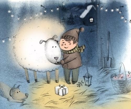 merry Christmas - postcard, illustration - natatulegenova   ello