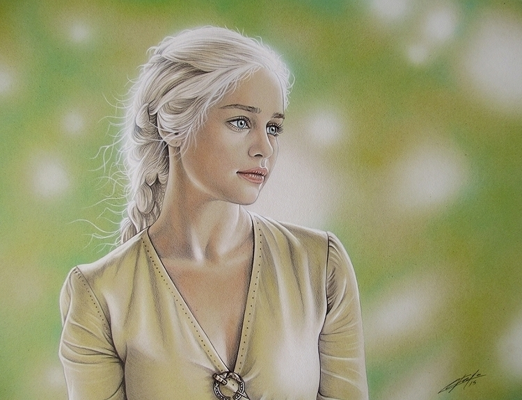 Daenerys. Airbrush colored penc - jcberbes | ello