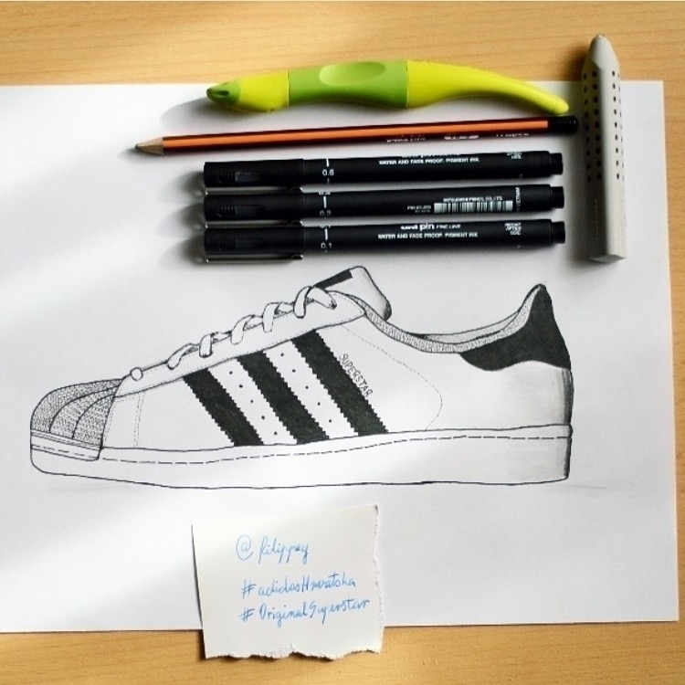 Superstar drawing - adidasoriginals - filippey | ello