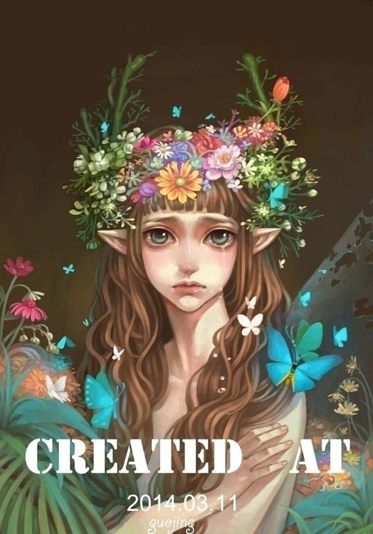 butterfly1 - illustration, painting - guojing | ello