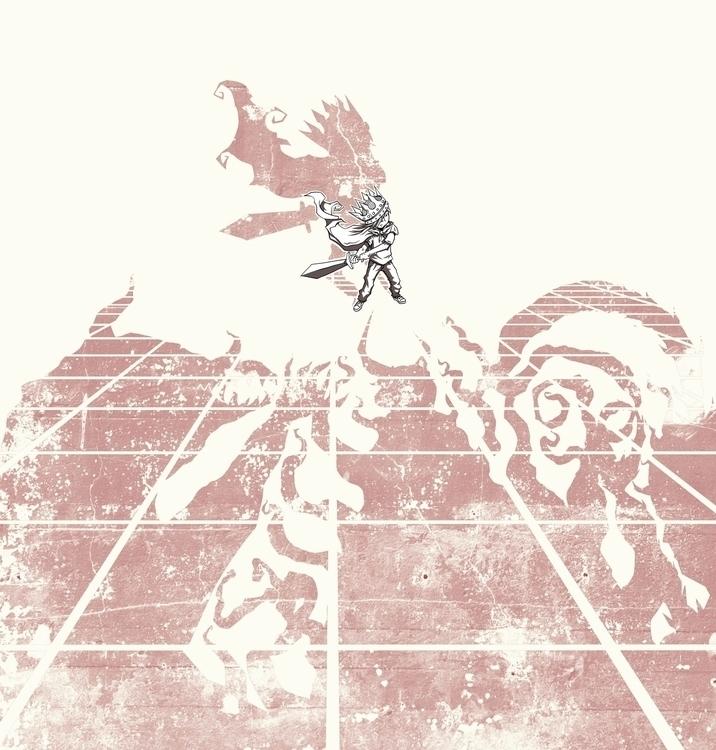 tatakai - illustration, drawing - poormanshield | ello