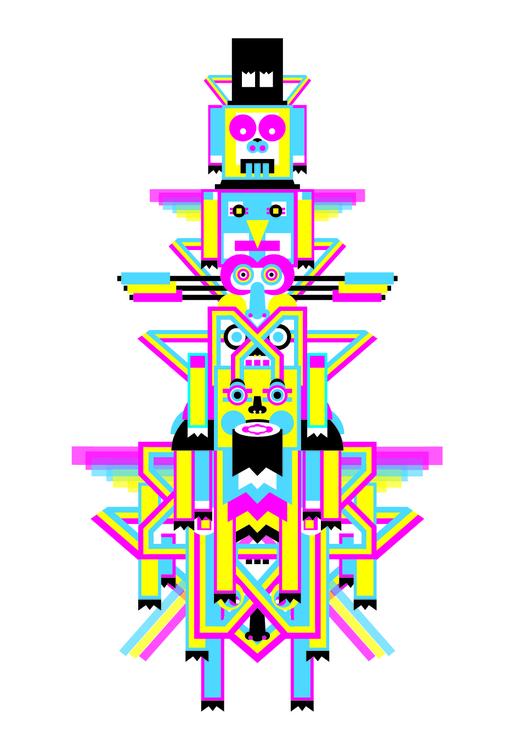 Totem9 - totem, cmyk, art, illustration - pabloshock | ello