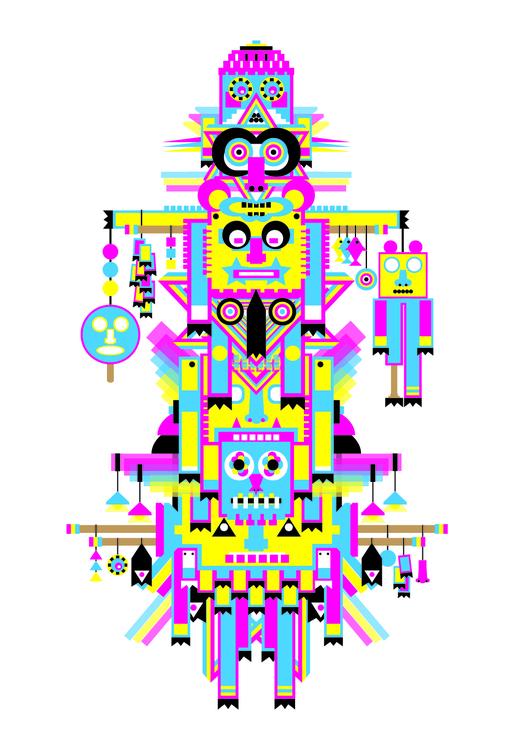 Totem10 - totem, cmyk, art, illustration - pabloshock | ello