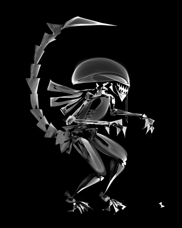Giger Tribute - illustration, painting - borjo-1079 | ello