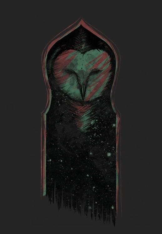 owl - illustration, drawing - poormanshield | ello
