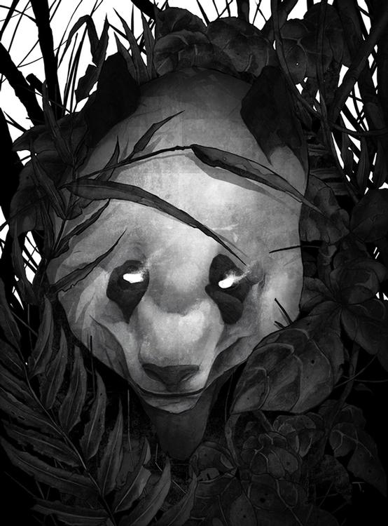 Panda - panda, black, blackandwhite - thatt | ello