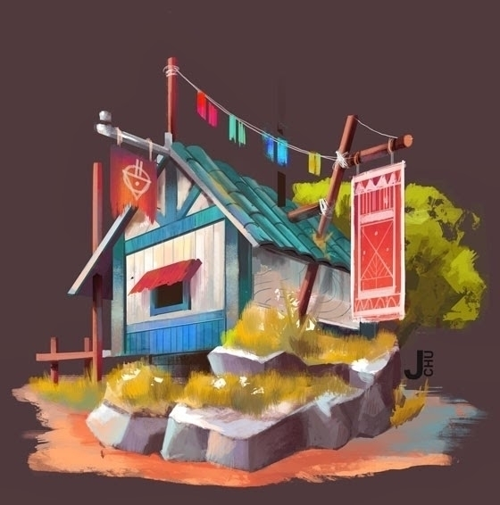 fun - Buildings, conceptdesign, visualdevelopment - janicechu | ello