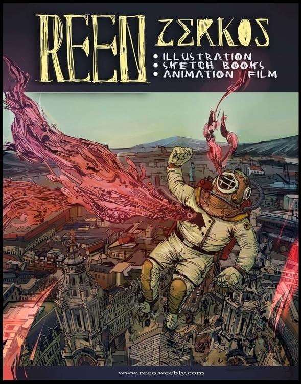 space man - illutration, reeo - reeozerkos | ello