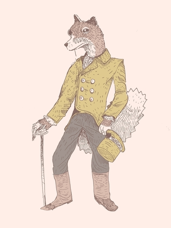 Wolf Gentleman - illustration, animation - zoso262 | ello