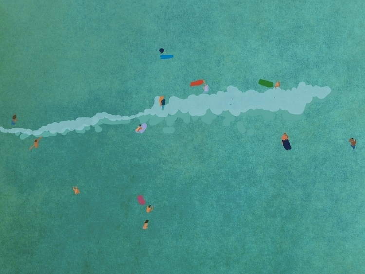Swimmers - drawing, design, illustration - zoso262 | ello
