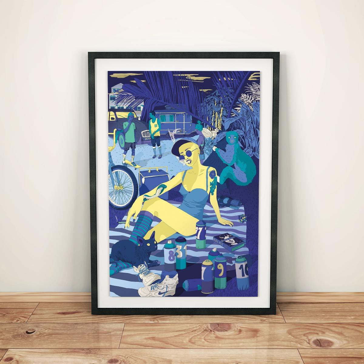 Blue Scene - illustration, digitalart - mellongwen | ello