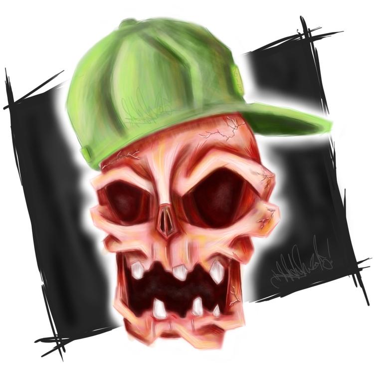 Red Skull - skull, illustration - j_mcmichael   ello
