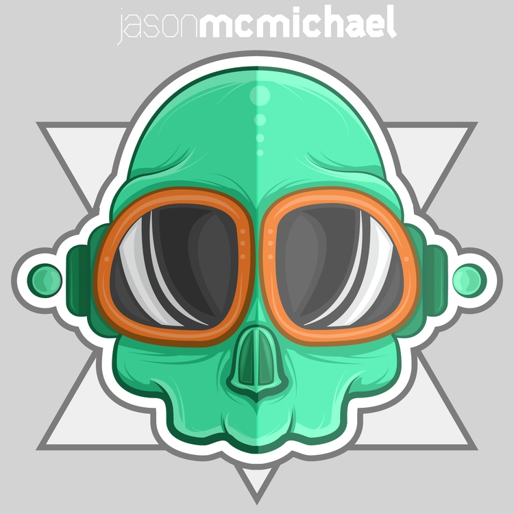 Green Skull - skull, illustration - j_mcmichael | ello
