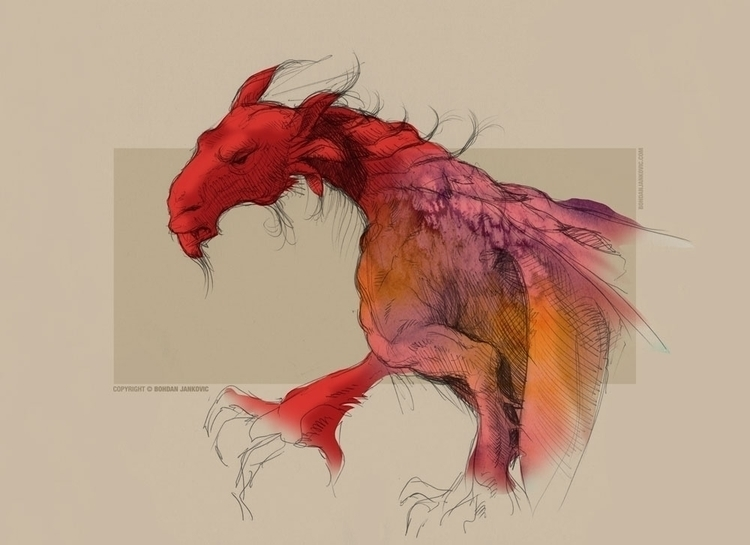 Red Dragon - illustration, conceptart - bohdanjankovic | ello