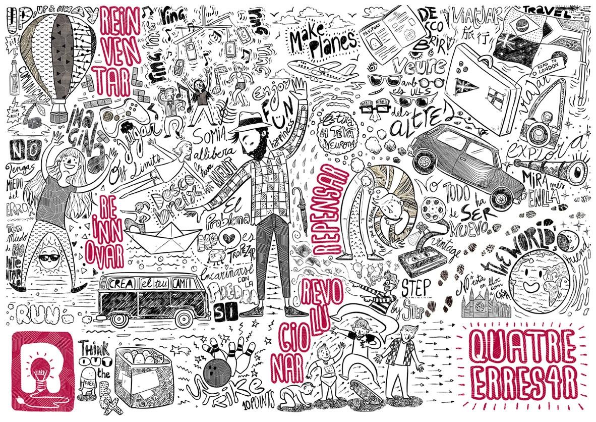 Quatre Erres 4R - illustration - margom   ello