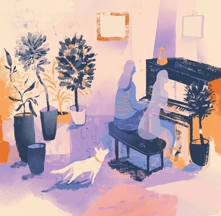 Piano - illustration, digitalpainting - nicolexu-8498 | ello