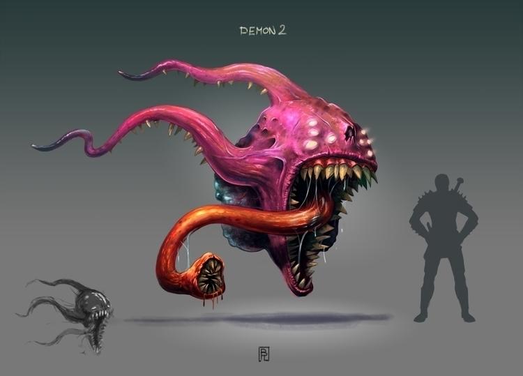 Demon 2 - characterdesign, conceptart - boris_rogozin | ello
