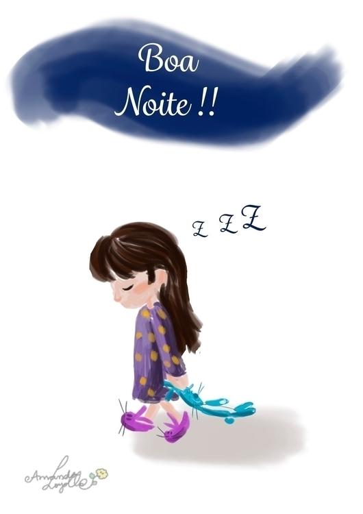 goodnight, sleeping, kid, children - amandaloyolla | ello