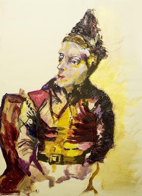 Harlequin - painting - aliziagonzalez | ello
