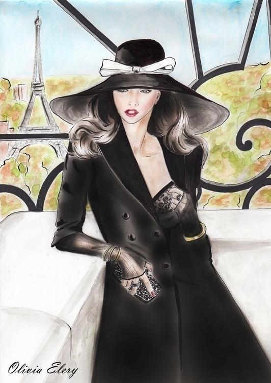 Mixed media fashion illustratio - oliviaelery | ello