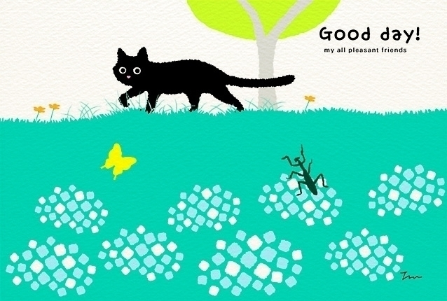 postcard cat Japanese designer  - guraguri | ello