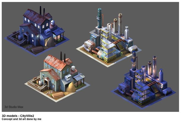 Cityville 2 - gameart, conceptart - jasonpastrana | ello