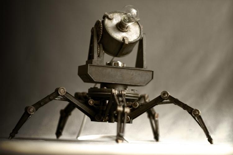 Spiderlamp - 3dprint, steampunk - fryk | ello