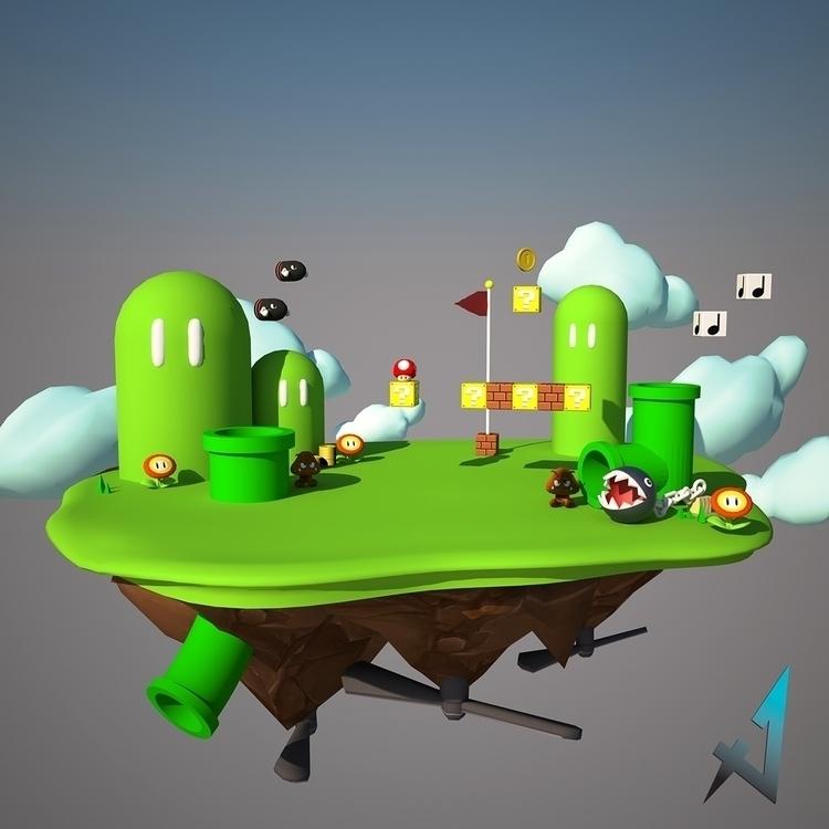 diseño rápido de Mario Bros par - frogx4 | ello