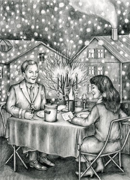 Snow - illustration, drawing, pencil - gerdamartens | ello