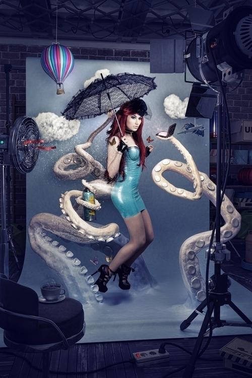 Backstage - photomanipulation, 3d - bobpalmer | ello