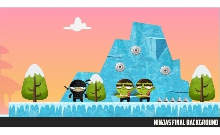 Ninjas Zombies 02 background - gameart - federicobonifacini | ello