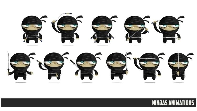 Ninjas Zombies 03 animations - animation - federicobonifacini   ello