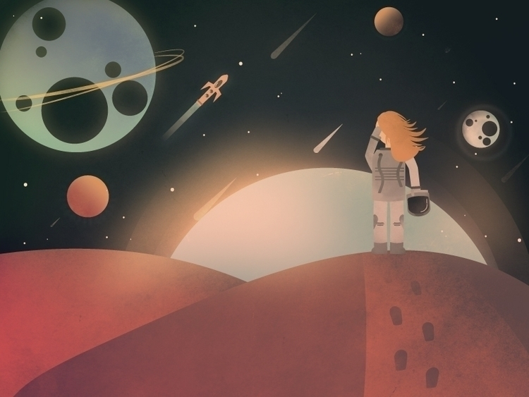Abandoned - space, illustration - rowanne | ello