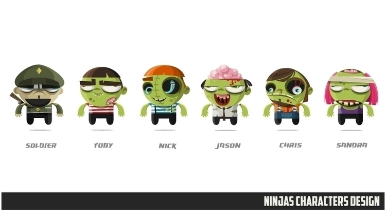Ninjas Zombies 04 character des - federicobonifacini | ello