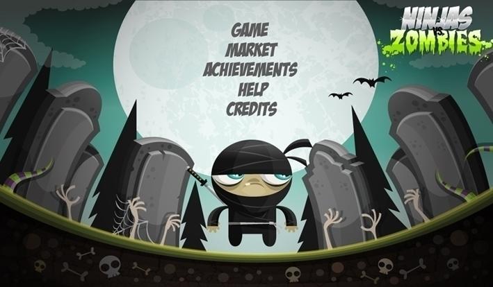 Ninjas Zombies 05 screens - mainmenu - federicobonifacini | ello