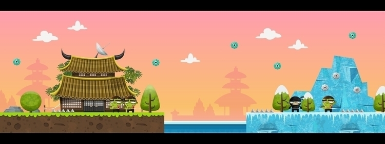 Ninjas Zombies background - backgrounddesigns - federicobonifacini | ello