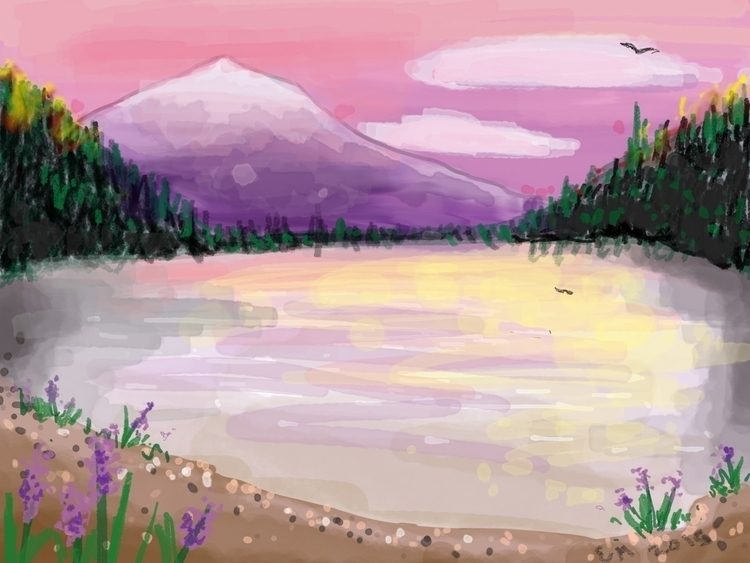 Landscape, Alaska - illustration - shatatomyo | ello