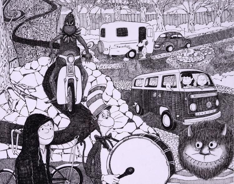 PenInk 19X24 paper - illustration - apochyla | ello
