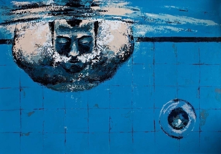 SWIMMING POOL acrylic canvas, 1 - ogel | ello