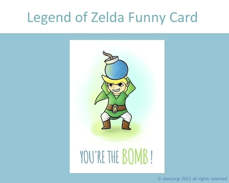 BOMB! Zelda Card Fan Art - zelda - doncorgi-7551   ello