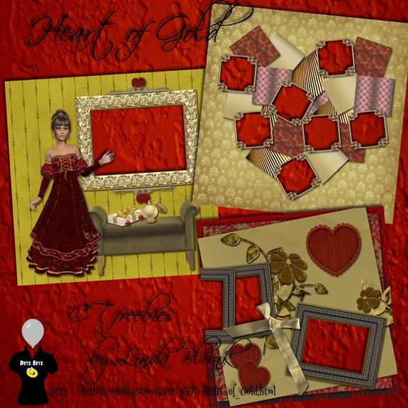 freebie quick pages Heart Gold  - ditzbitz | ello
