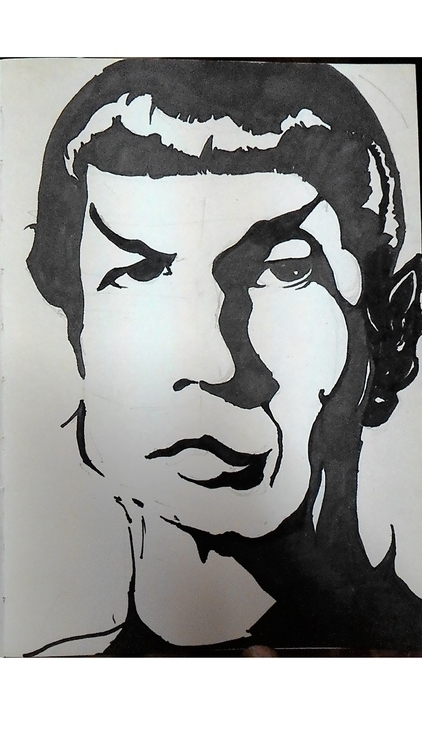 Spock - illustration, drawing - suraiyashahid | ello