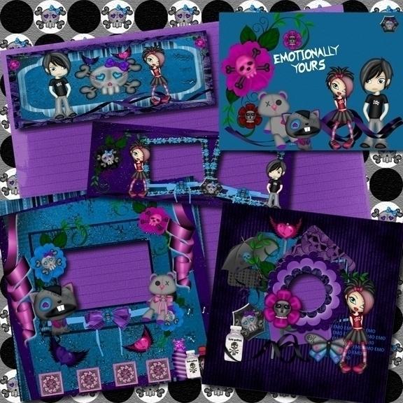 freebies kit, EMOtionally - digitalscrapbook - ditzbitz   ello