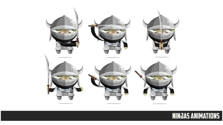 Ninjas Zombies poses - gameart, characterdesign - federicobonifacini   ello