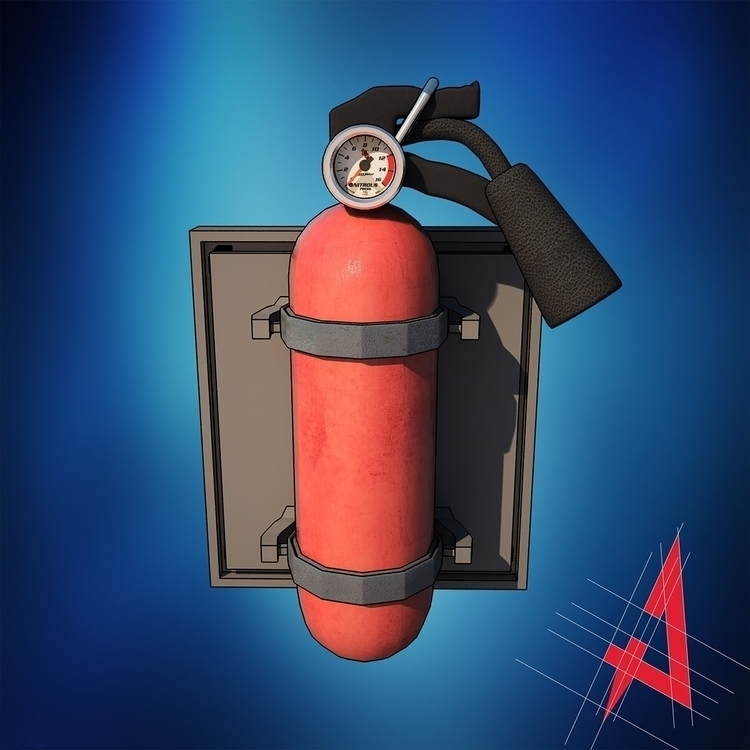 Modelo de Extintor para 3D - illustration - frogx4 | ello